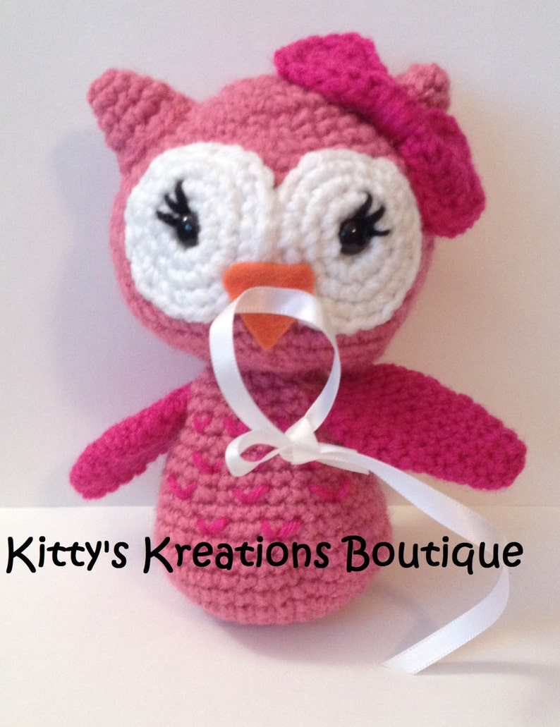 Owl Pacifier/ Binky Holder  Any Pacifier  Any Color Combo  image 0