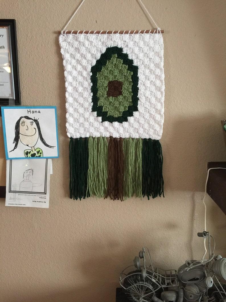 Hand Crocheted Avocado Wall/ Decor  Fruit Vegetable image 0