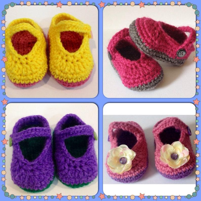 Perfect Baby Shower Gift Handmade Mary Jane Booties  Any image 0