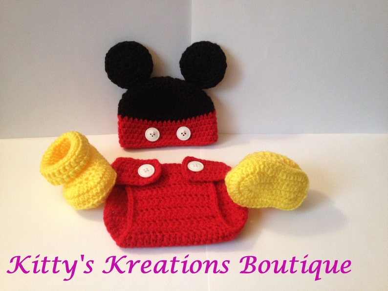 Mickey Mouse Outfit  Photo Prop   All Sizes Available image 0