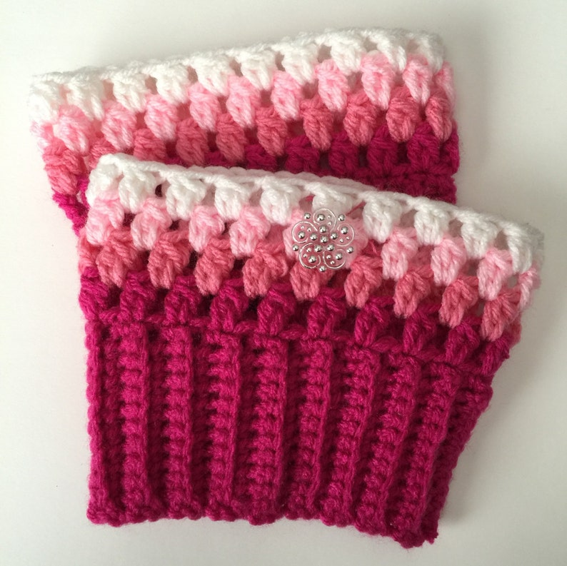 Handmade Adorable Crocheted Boots Cuffs  Any Size  Any Color image 0