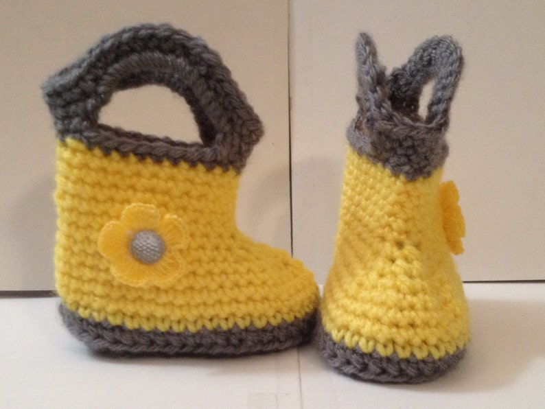 Perfect Baby Shower Gift Handmade Rain Boots  Sizes 0 to12 image 0