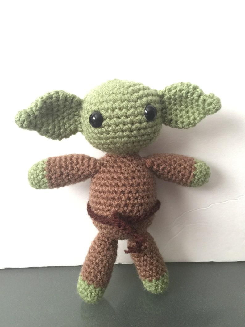 Yoda from Star Wars  Binky/ Pacifier Holder  Stuffed Plush  WithOut Ribbon