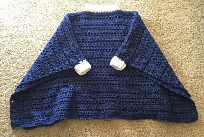 Thick chunky Cozy Warm Poncho/ Throw Sweater  Any Color  image 0