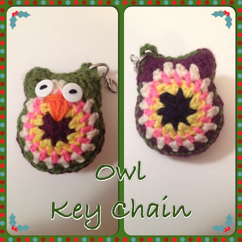 Cute Owl Key Chain  Decoration  4 H x 3-1/2 W  image 0