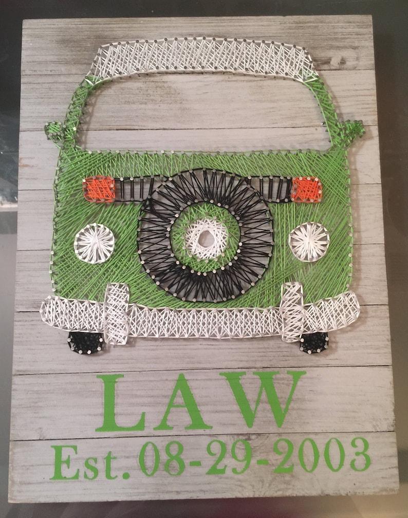 VW Bus String Art Wall Decor Family Any Color  Westafilia image 0