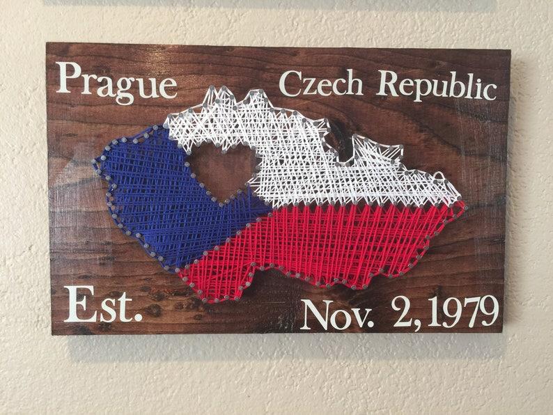 Czech Republic Prague Country String Art Wall Decor image 0