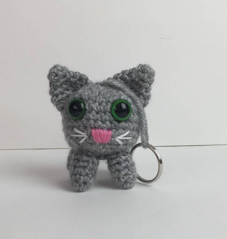Cat/ Kitty Key Chain  Any Color  Keychain image 0