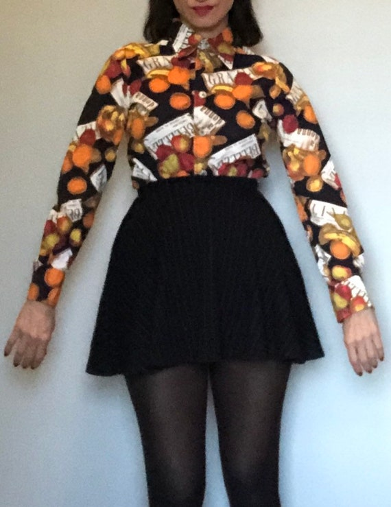 Vintage 60s Givenchy iconic blouse  small - image 7