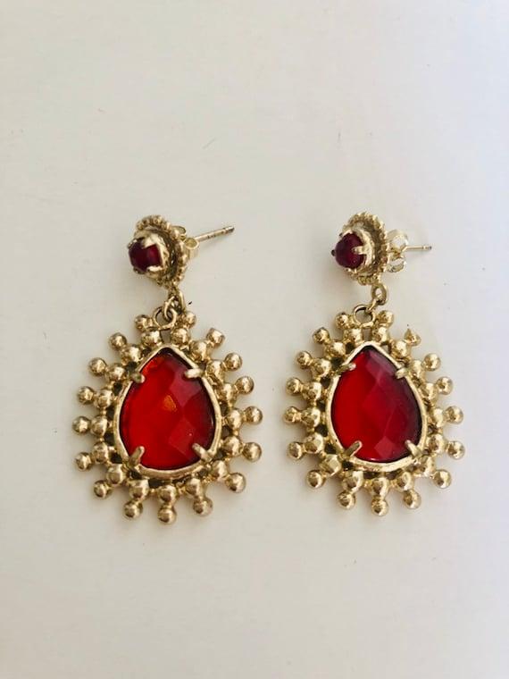 Stunning 70s bohemian glam rock disco earrings
