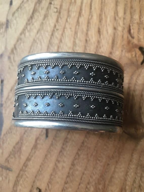 Vintage 40s silver handmade bracelet