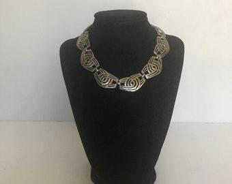 Vintage 60s Art Deco costume necklace