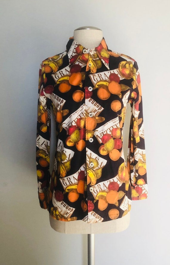 Vintage 60s Givenchy iconic blouse  small - image 4