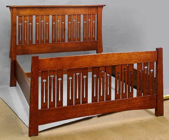 Arts And CraftsMackintosh Design QUEEN BED Quartersawn Oak