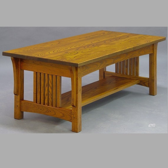 Mission Arts And Crafts Coffee Table Made Of Ash Etsy