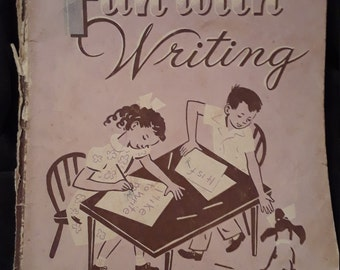Vintage 1954 textbook, Fun with Writing a help yourself series by Whitman Publishing Company