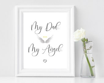 """In Loving Memory of Dad, Wedding Printable Sign, Wedding Memorial Sign, Wedding Memorial Table, Rememberance Sign, 8""""x 10"""""""
