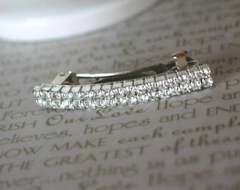 Bridal Barrette, Simple Glam Swarovski Crystal