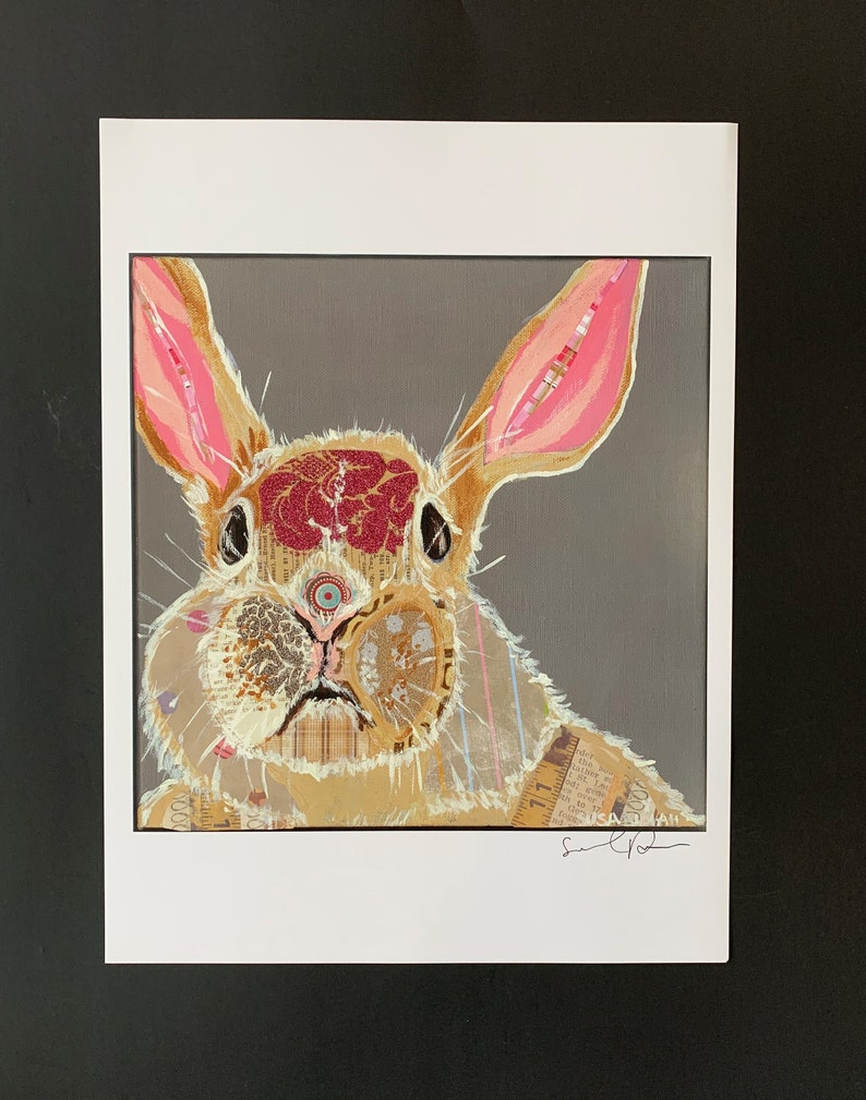 Funny Bunny Limited Edition Print From Original Painting image 0