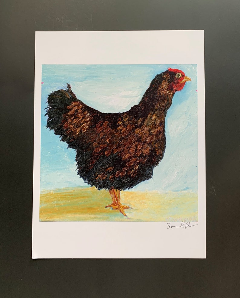 First Position Hen Limited Edition Print from Original image 0