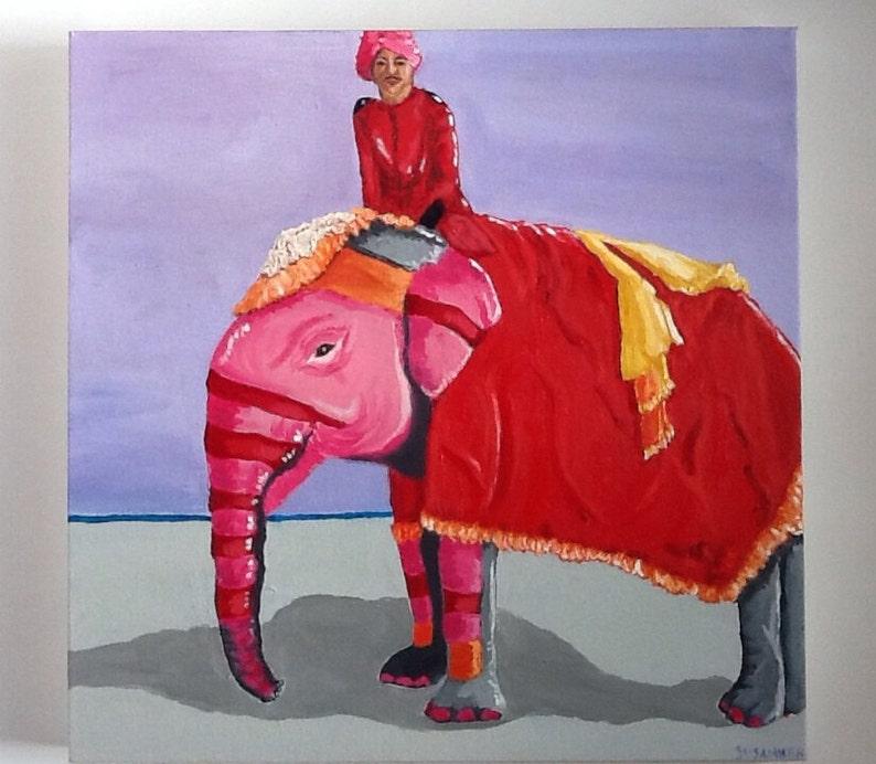 Jaipur Indian Elephant Parade in Pink image 0