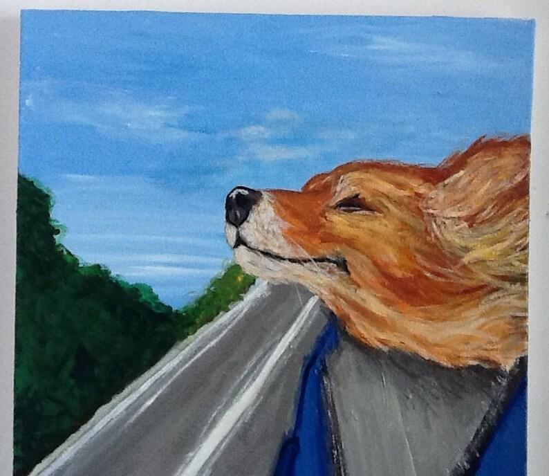 Doing The Dog Acrylic Painting Portrait image 0