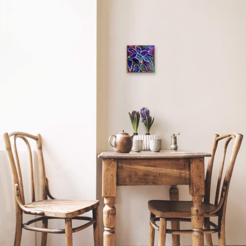 Coleus Original Acrylic Painting 100 Flowers in 100 Days 45