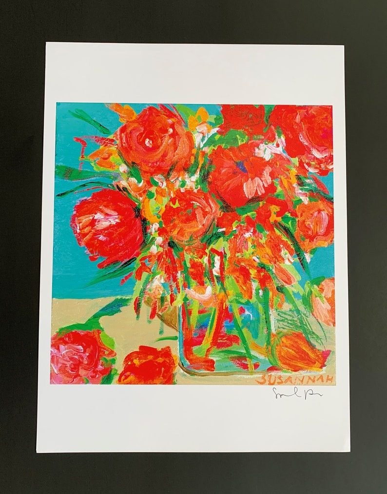Tangerine Dream Limited Edition Print from Original Flowers image 0