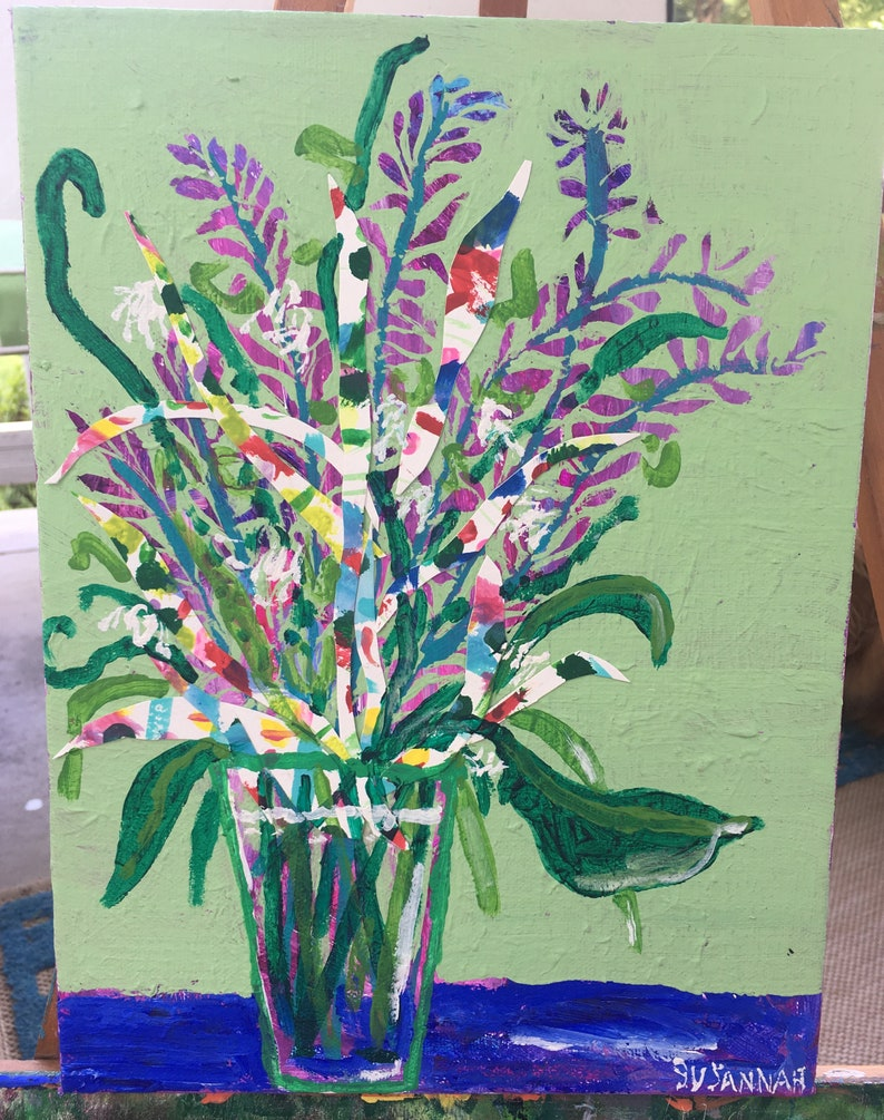 Westminster Original Acrylic Painting 100 Flowers in 100 Days image 0
