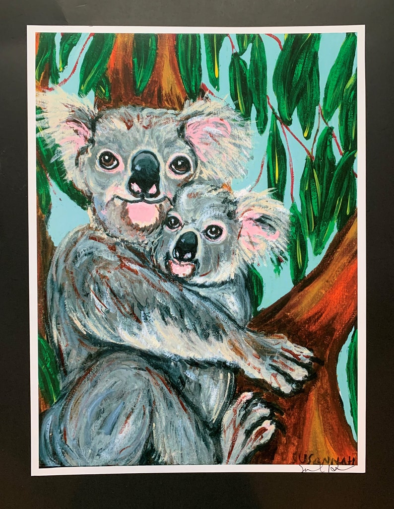 Save The Koalas Limited Edition Print from Original Painting image 0