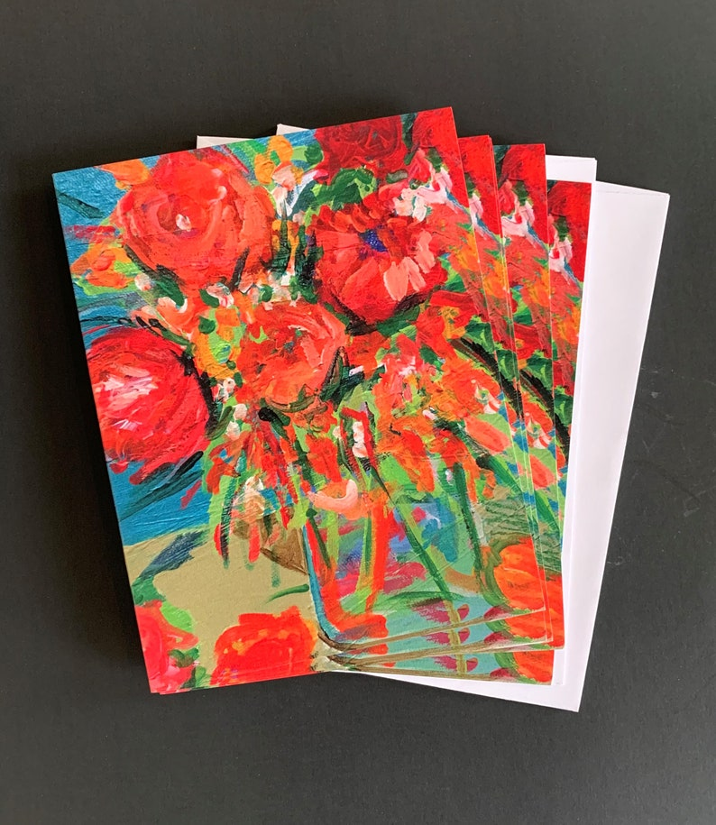 Tangerine Dream  Note Card Set from Original Painting image 0