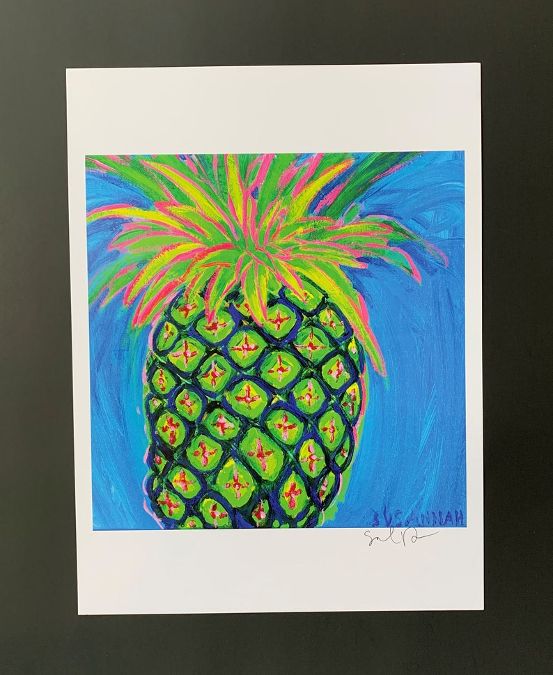 Happy Pineapple Limited Edition Print from Original Painting image 0