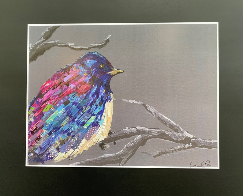 Bluebird With Paper Feathers Limited Edition Print from image 0