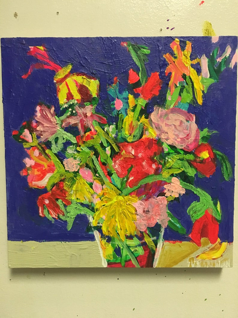 Little  Ultra Original Acrylic Painting 100 Flowers in 100 image 0