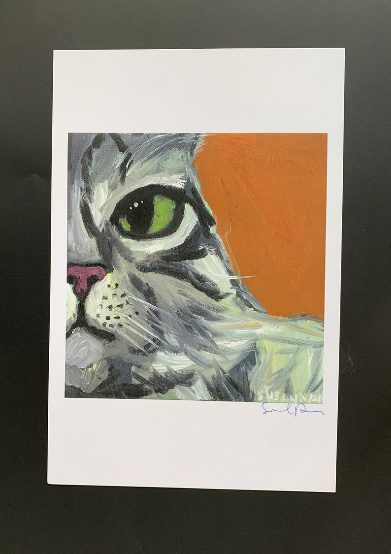 Wise Cat Limited Edition Print from Original Painting image 0