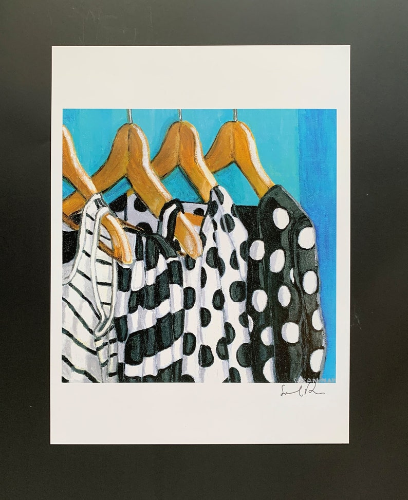 Black and White Closet Digital Print From Original Oil image 0