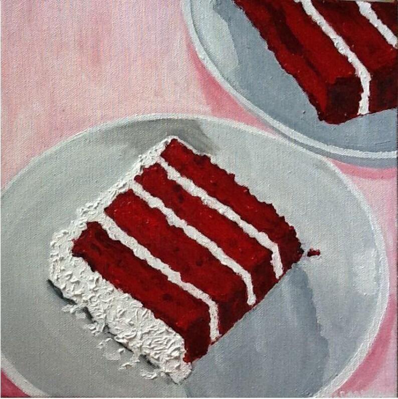 Red Velvet Slice Painting image 0