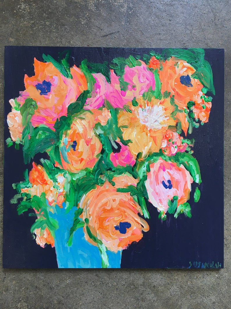 Naval Observatory Original Acrylic Painting 100 Flowers in 100 image 0