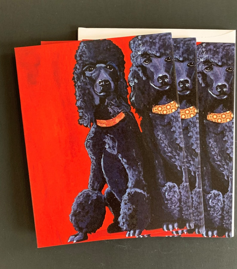 Two Fifis Dalmatians  Notecard Set from Original Painting image 0