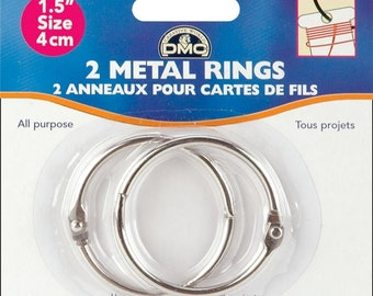 "DMC 1.5"" Metal Craft Rings - 2 Pack"