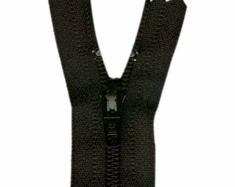 COSTUMAKERS General Purpose Closed End Zipper 23cm (9″) - Black, craft, sewing, beige, zip, pant, skirt, pouch, closure, closed end