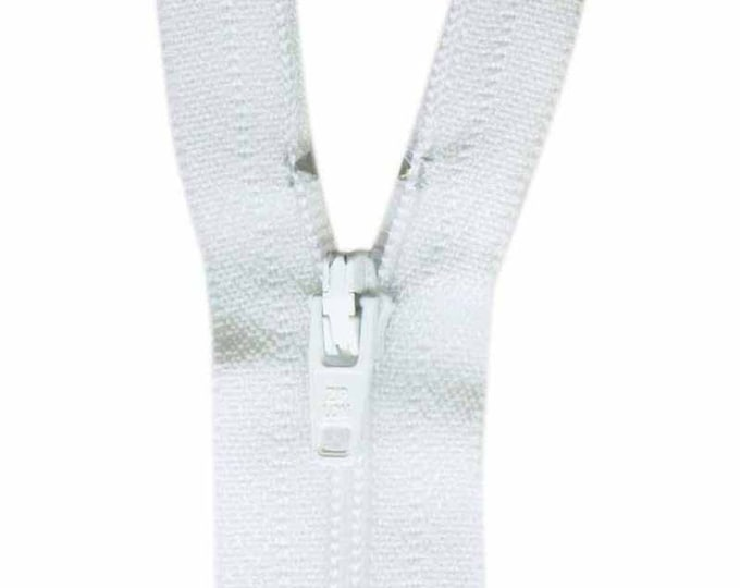 COSTUMAKERS General Purpose Closed End Zipper 18cm (7″) - White, craft, sewing, beige, zip, pant, skirt, pouch, closure, closed end