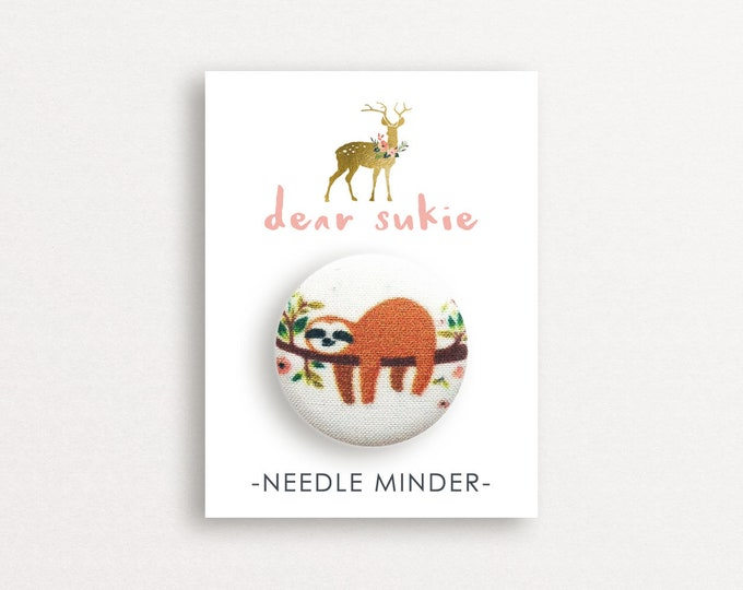 Needle Minder - Lazy Day, sloth needle minder, cute,  embroidery, cross stitch, needlework, supplies, xstitch, dear sukie, magnet, gift