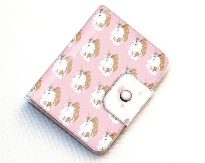 Handmade Vinyl Passport Case - Pink Unicorn / traveller, passport, vinyl, gift, kids, wallet, girls, children, cute, travel, wanderlust