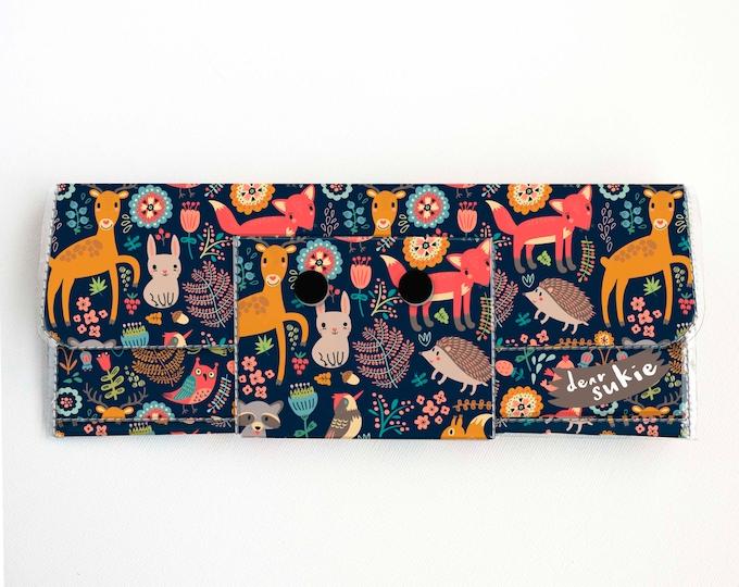 Vinyl Long Wallet - Fall Forest / autumn, fox, deer, rabbit, vegan, pretty, large wallet, clutch, card case, vinyl wallet, big, woodland