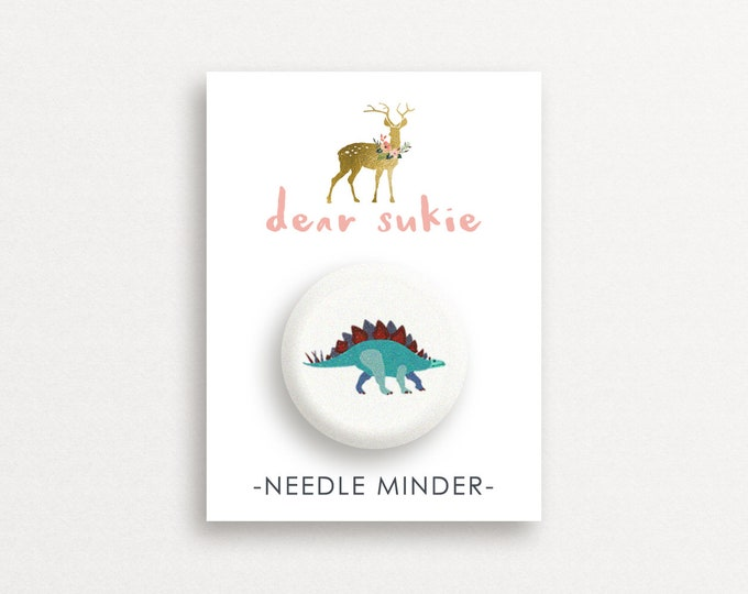 Needle Minder - Stegosaurus, cute needle minder, cute,  embroidery, cross stitch, needlework, supplies, xstitch, dinosaur, magnet, gift