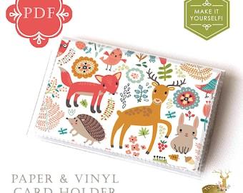 Vinyl Card Holder Wallet Sewing Pattern PDF - / vinyl wallet, tutorial, template, craft supplies, sewing, paper wallet, how to, DIY,