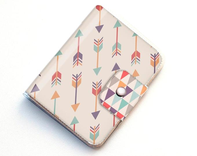 Vinyl Passport Case - Tribal2 / traveller, tribal, arrows, passport, vinyl, gift, woman's, wallet, case, animal, chevron, pretty