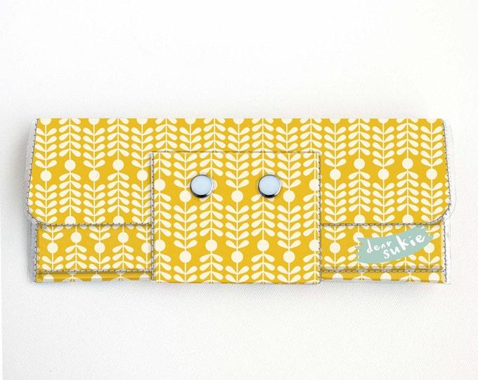 Vinyl Long Wallet - Scandinavian Summer 4 / folk, floral, flowers, sunny, vegan, large wallet, clutch, card case, vinyl wallet, handmade