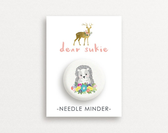 Needle Minder - Hedgehog, cute needle minder, cute,  embroidery, cross stitch, needlework, supplies, xstitch, dear sukie, magnet, gift